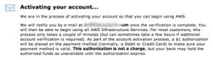 Activate Your AWS Account
