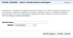 Create a Bucket Screenshot