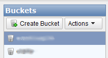 Amazon S3 Buckets Screenshot