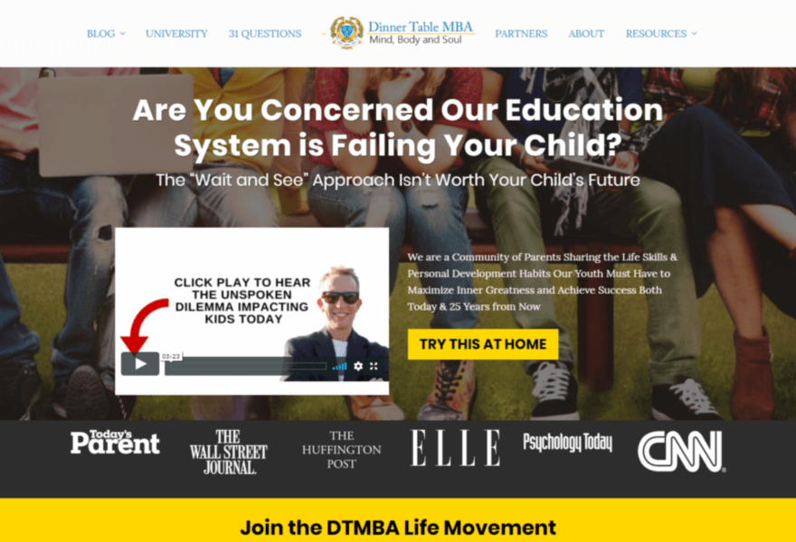Dinner Table MBA - Educational Site