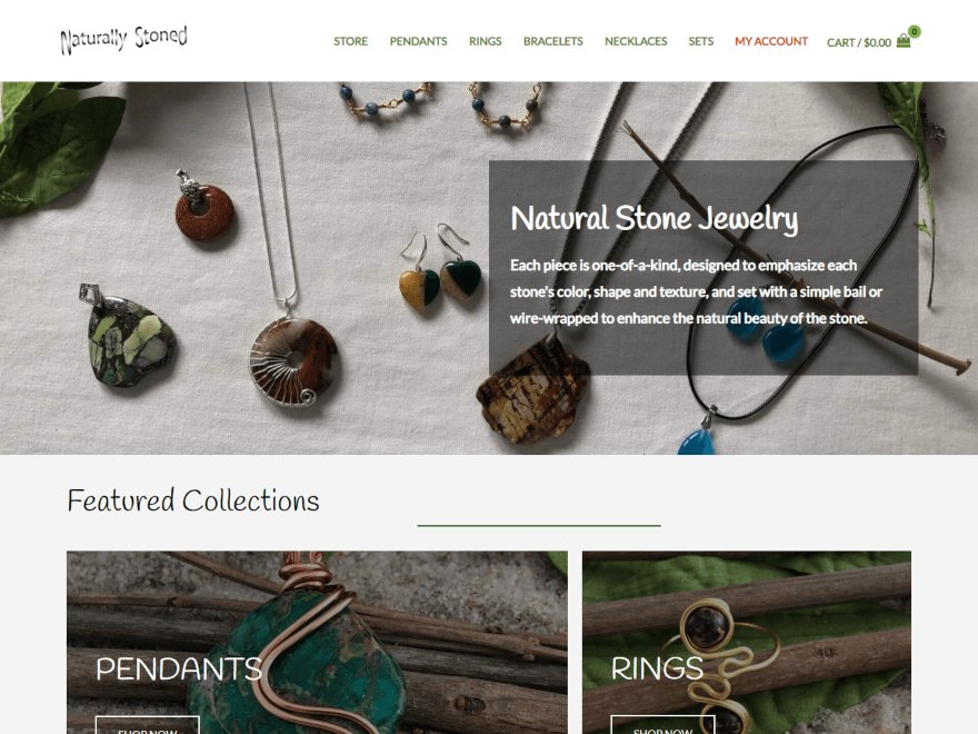 Snapshot of jewelry website