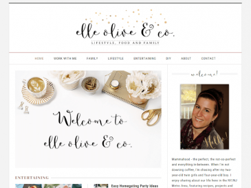 Elle Olive & Co Website Screenshot