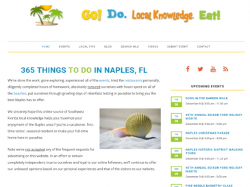 Naples FL Tourist Website Design