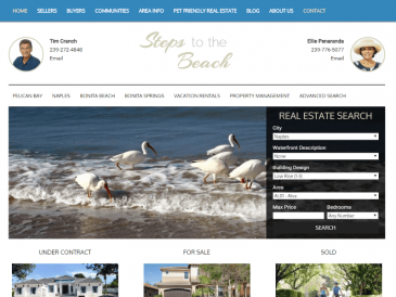 Steps to Beach Naples FL Real Estate