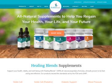 Herbal Supplements Website Design